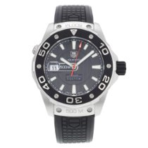 TAG Heuer Aquaracer 500M Steel 43mm Black No numerals United States of America, New York, NYC