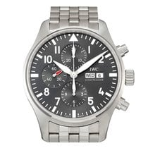IWC Steel Automatic Grey Arabic numerals 43mm new Pilot Spitfire Chronograph