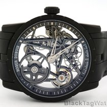 Roger Dubuis new Automatic Skeletonized Display Back Genevian Seal Only Original Parts 42mm Titanium Sapphire crystal