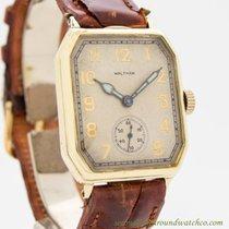 Waltham Gelbgold Handaufzug Silber Arabisch 27mm gebraucht