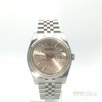 Rolex Datejust Staal 36mm Roze Arabisch