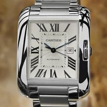 Cartier Tank Anglaise Swiss Made Automatic Stainless St Mens...