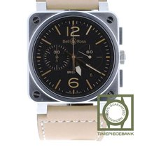 Bell & Ross Steel Automatic Black 42mm new BR 03-94 Chronographe