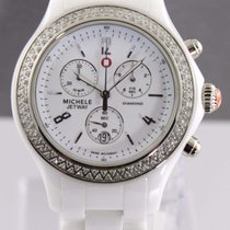 Michele Ladies Jetway Mww17b000001 Ceramic Diamond Chronograph...