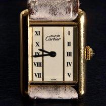Cartier Tank Vermeil Rare Art Decor Design Paris 925 Silver