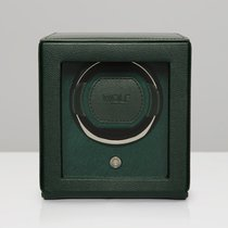 WOLF Cub with cover single watch winder cube Green