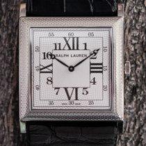 Ralph Lauren 867 Square Model 18K Gent's Watch. Full Hand-Guil...