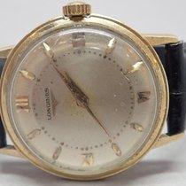 Longines 1950s Vintage 14k Gold Bezel SS Back 2 Tone Dial...