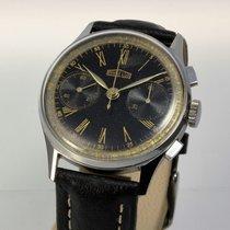 Angelus Vintage Chronograph 37mm Edelstahl 1943 selten
