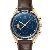 Omega 311.63.42.30.03.001 Yellow gold Speedmaster Professional Moonwatch 42mm new