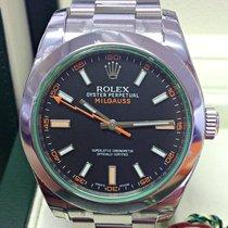 Rolex Milgauss новые 2012 Автоподзавод Часы с оригинальными документами и коробкой 116400GV