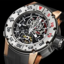Richard Mille Rose gold Manual winding Transparent Arabic numerals 49.7mm pre-owned