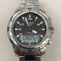 Tissot T-Touch II rabljen Crn Kronograf Datum, nadnevak Budilica Titan