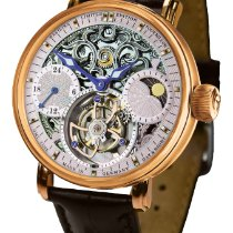 Poljot Сталь 43mm Механические Skeleton Tourbillon 3360.T40 новые