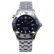 Omega Seamaster pre-owned 36mm Blue Date Steel