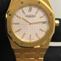 Audemars Piguet Yellow gold Automatic White 39mm pre-owned Royal Oak Jumbo