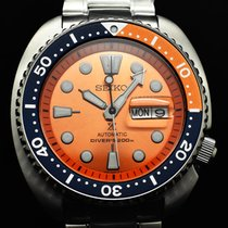 Seiko Prospex Steel 45mm Orange No numerals