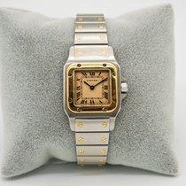 Cartier Santos Galbée 1057930 Very good Gold/Steel 24mm Quartz