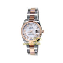 Rolex Datejust Steel Rose Gold 31mm White MOP Roman Number