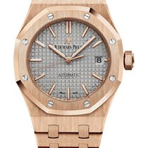 Audemars Piguet Royal Oak 37mm 18K pink gold case  Grey dial