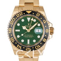 Rolex GMT-Master II Green/18k gold Ø40mm - 116718LN