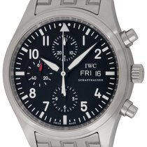 IWC Pilot Chronograph Steel 42mm Black Arabic numerals United States of America, Texas, Austin