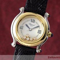 Chopard Lady Happy Sport Diamanten Damenuhr Gold / Stahl 8245