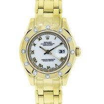 Rolex Masterpiece 69318 Roman Dial Diamond Bezel Watch