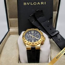 Bulgari Diagono Scuba SC38G 18K Gold Chronograph - FULL SET