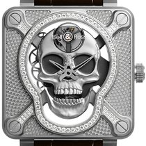 Bell & Ross BR 01 new 2021 Manual winding Watch with original box and original papers BR01-SKULL-SK-LGD Light Diamond