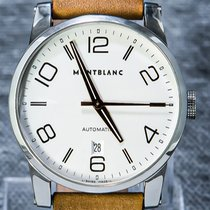 Montblanc Timewalker Stal 39mm Srebrny Arabskie