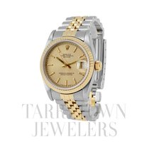 Rolex Lady-Datejust pre-owned 31mm Champagne Date Gold/Steel