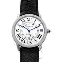 Cartier Ronde Croisière de Cartier Stahl 42mm Silber