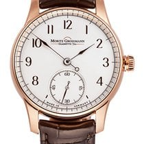 Moritz Grossmann BENU Rose gold 41mm Silver (solid) Arabic numerals