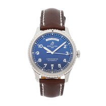 Breitling Navitimer 8 pre-owned 41mm Blue Date Leather