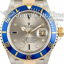 Rolex Submariner Date pre-owned 40mm Grey Gold/Steel