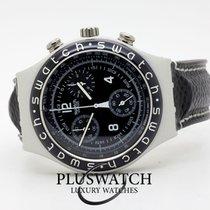 Swatch Aluminium Quarz Schwarz 36mm gebraucht
