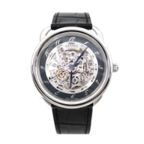 朗格 41mm 石英 Hermes AR6.710a Arceau Stainless Steel Automatic Skeleton Wa 二手