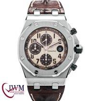 Audemars Piguet Royal Oak Offshore Chronograph Ατσάλι 42mm Σαμπανιζέ χρώμα Αραβικοί