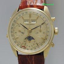 Longines Chronograph mit ital. Vollkalender und Mondphase 18k/750