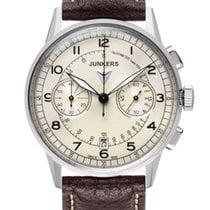 Junkers G38 Chronograph 6970-1 silber braun 42 mm 10 ATM
