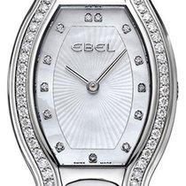 Ebel Beluga Tonneau Mini Steel & Diamond Womens Luxury Swiss...