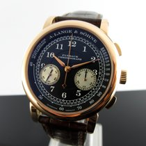A. Lange & Söhne pre-owned Manual winding 39,5mm Black Sapphire Glass