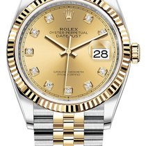 Rolex Datejust 126233 Champagne Diamond Jubilee Unworn Gold/Steel 36mm Automatic