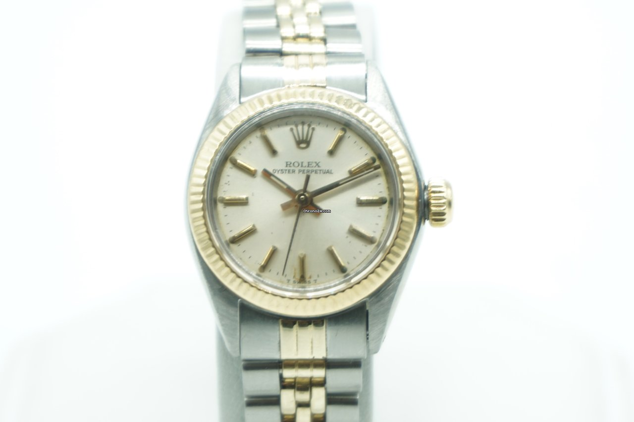 Rolex Oyster Perpetual Lady Two Tone Gold Stick Dial Jubilee za ... 459984770a7
