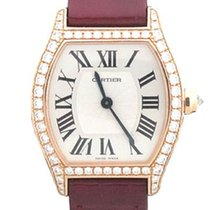 Cartier Tortue WA501006 CARTIER Tortue Piccolo Oro Rosa 18kt Diamanti Pelle New Rose gold 30mm Manual winding