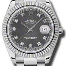 Rolex Datejust II Acier 41mm Gris Sans chiffres