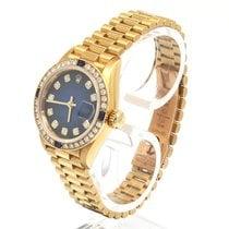 Rolex Gelbgold Automatik Blau 28mm gebraucht Lady-Datejust