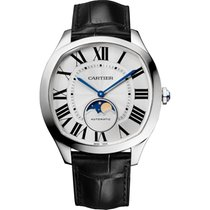Cartier Drive de Cartier Steel 40mm Silver Roman numerals United States of America, New York, New York