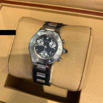 Cartier 21 Chronoscaph Stahl 32mm Schwarz